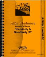 Operators Manual for Allis Chalmers 190 Tractor