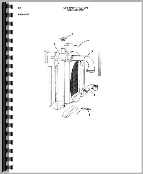 Parts Manual for Allis Chalmers 190 Tractor Sample Page From Manual
