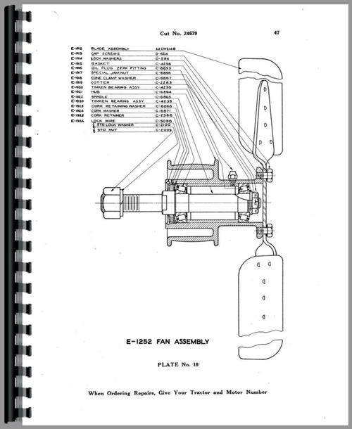 Parts Manual for Allis Chalmers 20-35 Tractor Sample Page From Manual