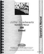 Operators Manual for Allis Chalmers 200 Tractor