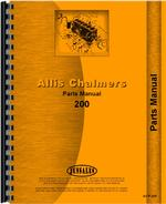 Parts Manual for Allis Chalmers 200 Tractor