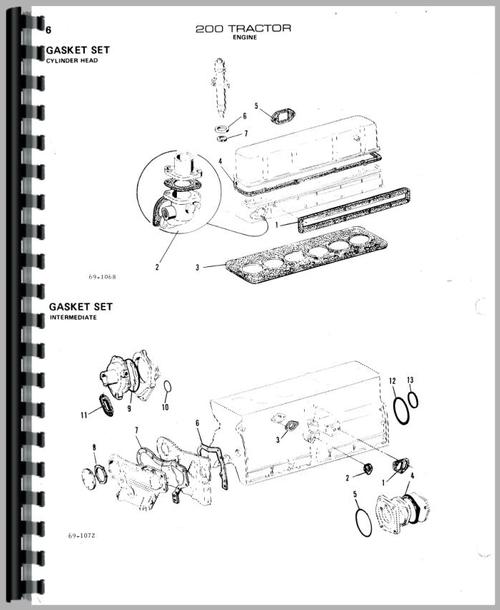 Parts Manual for Allis Chalmers 200 Tractor Sample Page From Manual