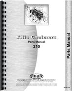 Parts Manual for Allis Chalmers 210 Tractor