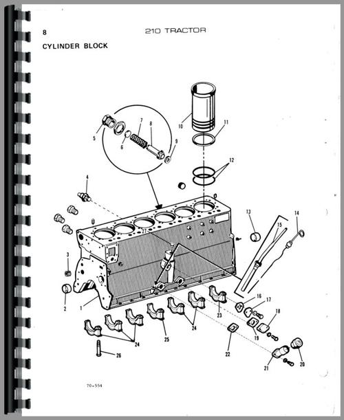 Parts Manual for Allis Chalmers 210 Tractor Sample Page From Manual