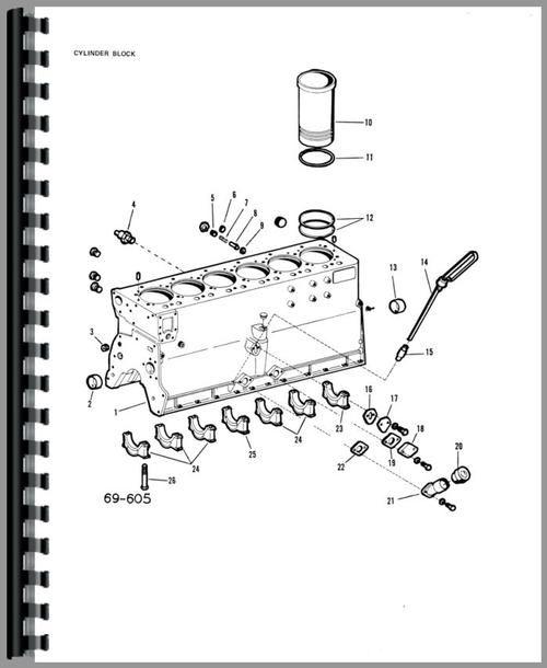 Parts Manual for Allis Chalmers 220 Tractor Sample Page From Manual