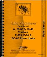 Parts Manual for Allis Chalmers 25-40 Tractor