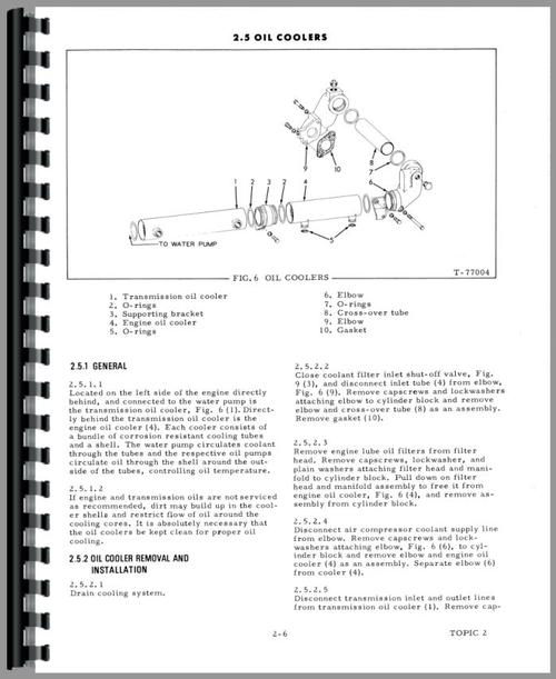 Service Manual for Allis Chalmers 2900 Engine Sample Page From Manual
