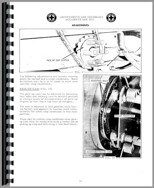 Operators Manual for Allis Chalmers 302 Baler Sample Page From Manual