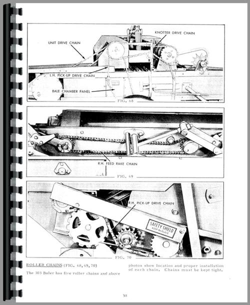 Operators Manual for Allis Chalmers 303 Baler Sample Page From Manual
