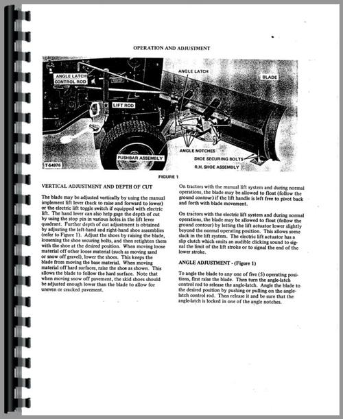 Operators Manual for Allis Chalmers 310 Lawn & Garden Tractor Sample Page From Manual