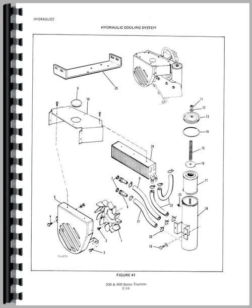 Service Manual for Allis Chalmers 310 Lawn & Garden Tractor Sample Page From Manual