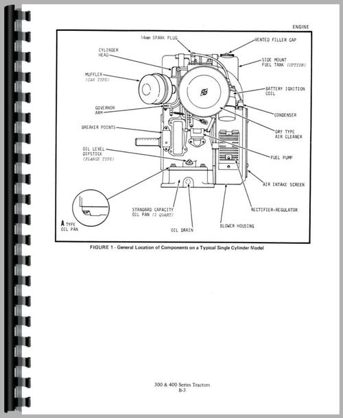 Service Manual for Allis Chalmers 310D Lawn & Garden Tractor Sample Page From Manual
