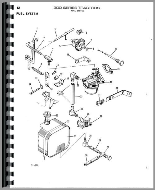 Parts Manual for Allis Chalmers 310D Lawn & Garden Tractor Sample Page From Manual