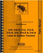 Parts Manual for Allis Chalmers 312 Lawn & Garden Tractor