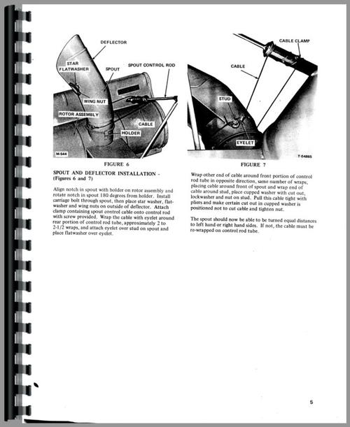 Operators Manual for Allis Chalmers 314 Lawn & Garden Tractor Sample Page From Manual