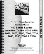 Operators Manual for Allis Chalmers 470 Farm Loader