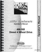 Operators Manual for Allis Chalmers 4W-305 Tractor