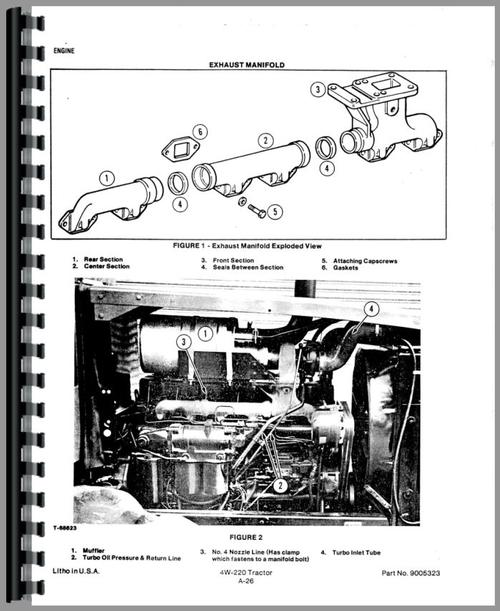 Service Manual for Allis Chalmers 4W-305 Tractor Sample Page From Manual
