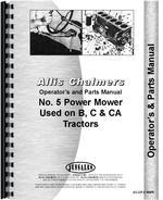 Operators & Parts Manual for Allis Chalmers 5 Sickle Bar Mower