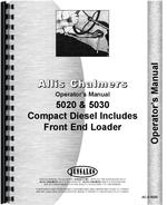 Operators Manual for Allis Chalmers 5020 Tractor