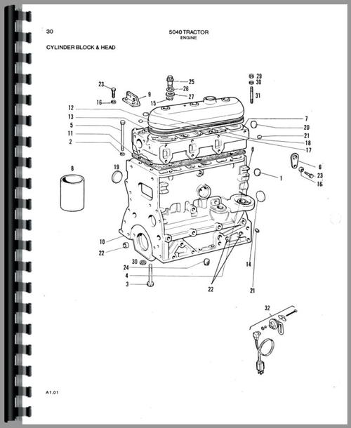 Parts Manual for Allis Chalmers 5040 Tractor Sample Page From Manual