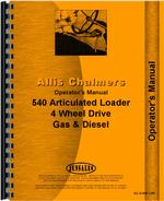 Operators Manual for Allis Chalmers 540 Articulated Loader