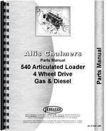 Parts Manual for Allis Chalmers 540 Articulated Loader