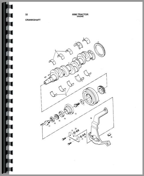 Parts Manual for Allis Chalmers 6080 Tractor Sample Page From Manual