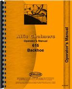 Operators Manual for Allis Chalmers 615 Backhoe Tractor
