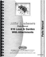 Parts Manual for Allis Chalmers 616 Lawn & Garden Tractor