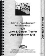 Operators Manual for Allis Chalmers 620 Lawn & Garden Tractor