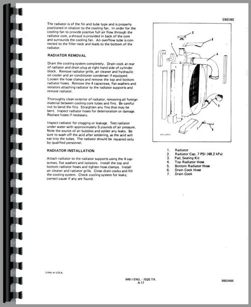 Service Manual for Allis Chalmers 7045 Tractor Sample Page From Manual