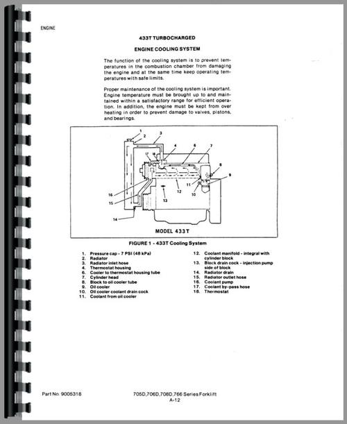 Service Manual for Allis Chalmers 708D Forklift Sample Page From Manual