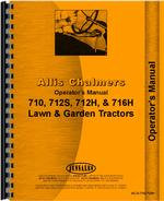 Operators Manual for Allis Chalmers 710 Lawn & Garden Tractor