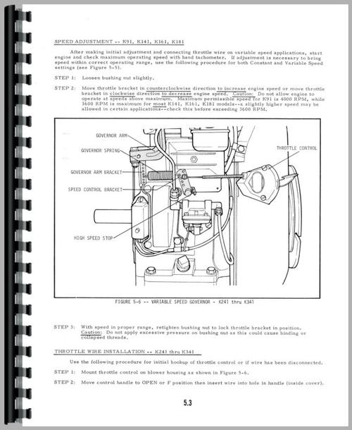 Service Manual for Allis Chalmers 712S Engine Sample Page From Manual