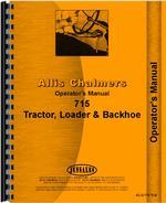 Operators Manual for Allis Chalmers 715 Tractor Loader Backhoe