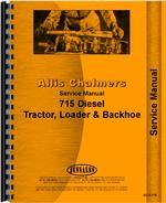 Service Manual for Allis Chalmers 715 Tractor Loader Backhoe