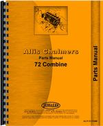 Parts Manual for Allis Chalmers 72 Combine