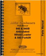 Parts Manual for Allis Chalmers 840 Wheel Loader