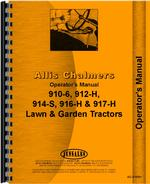 Operators Manual for Allis Chalmers 916 Lawn & Garden Tractor