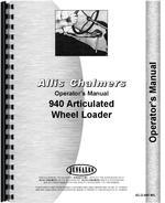 Operators Manual for Allis Chalmers 940 Wheel Loader