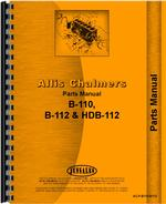 Parts Manual for Allis Chalmers B-110 Lawn & Garden Tractor
