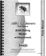 Parts Manual for Allis Chalmers B-206 Lawn & Garden Tractor