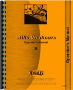 Operators Manual for Allis Chalmers B Tractor