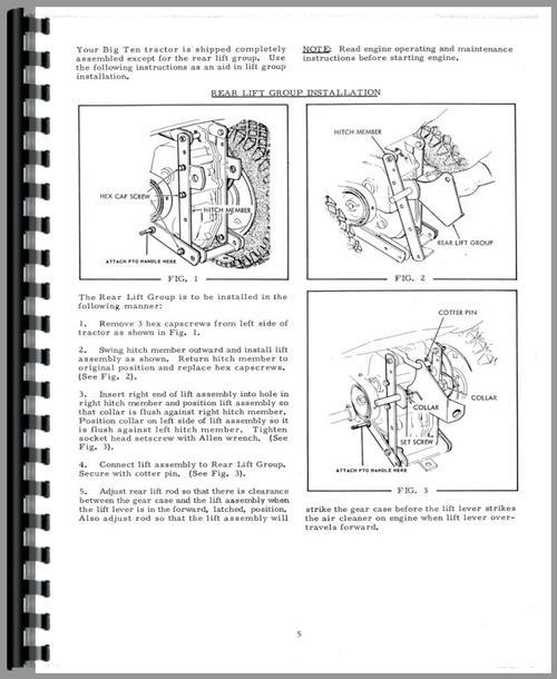 Bolens G152 Parts Lookup : Big ten allis chalmers parts tractor engine and