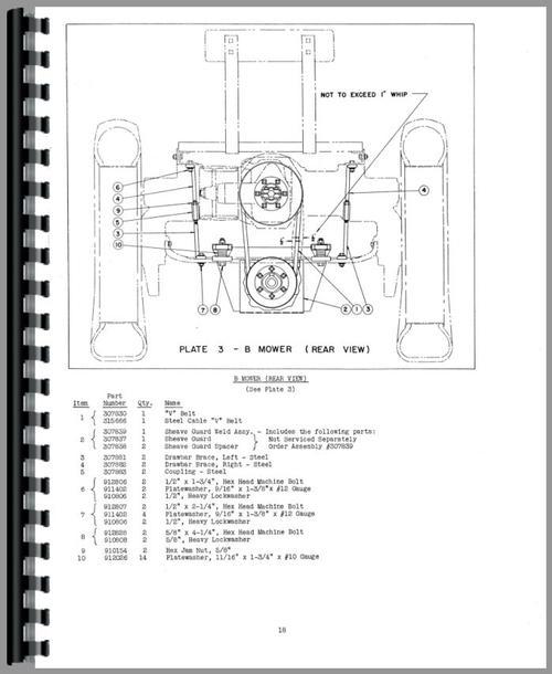 Allis Chalmers Ca Tractor Operators Parts Manual