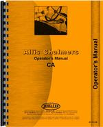 Operators Manual for Allis Chalmers CA Tractor