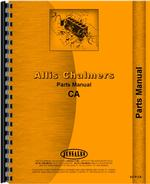 Parts Manual for Allis Chalmers CA Tractor