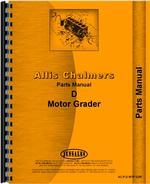 Parts Manual for Allis Chalmers D Motor Grader