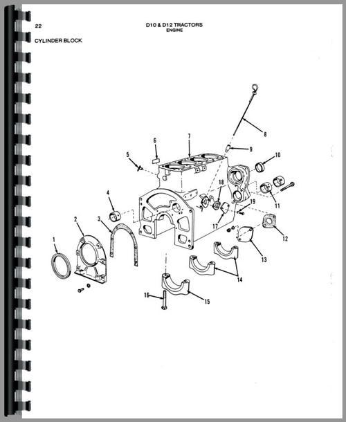 Allis Chalmers D10 Tractor Parts Manual